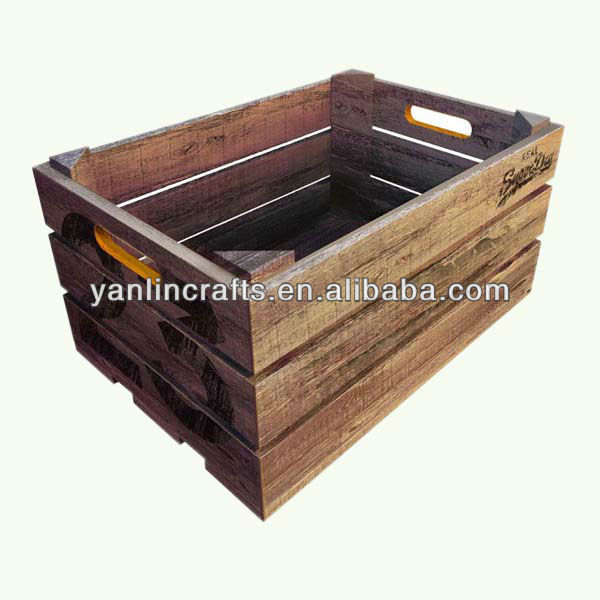 Wholesale cheap used wooden fruit crates for sale