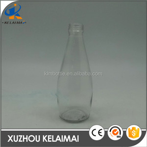 Wholesale 300ml round cold pressed juice glass bottles with screw lids