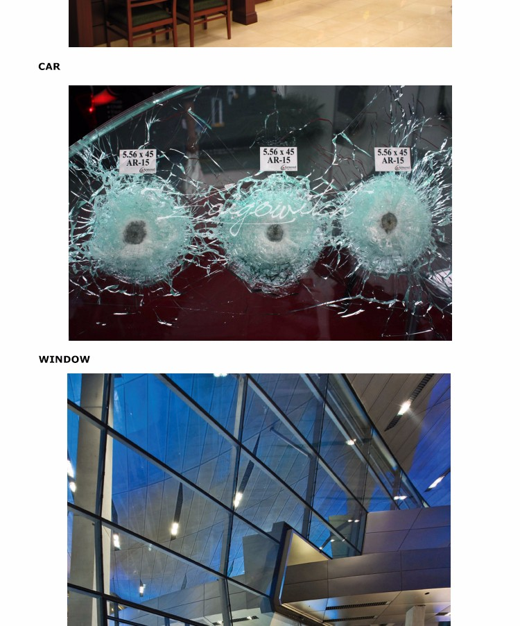High Quality bulletproof glass for sale used for bank counter
