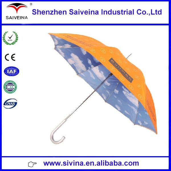 new inventions in china heat transfer printing double canopy blue sky umbrella
