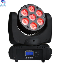 New RGBW 4 in 1 leds beam 7x12 moving head wash rgbw 2017