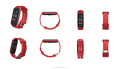 Red TFT waterproof full touch screen heart rate smart band