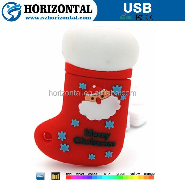Santa Claus 2GB USB memory stick Christmas stocking USB flash drive Wholesale China USB flash stick