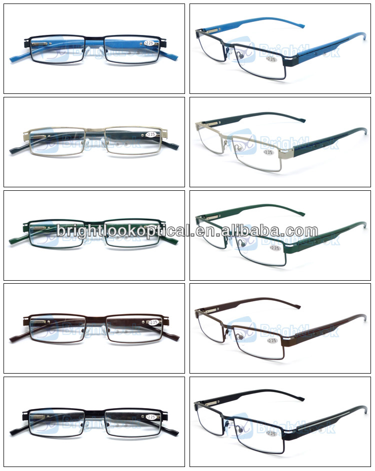 2014 New Style Wenzhou Fashion Design Metal&Plastic Unisex Cheap with case Anti Radiation Computer Reading Glasses (BRM3941)