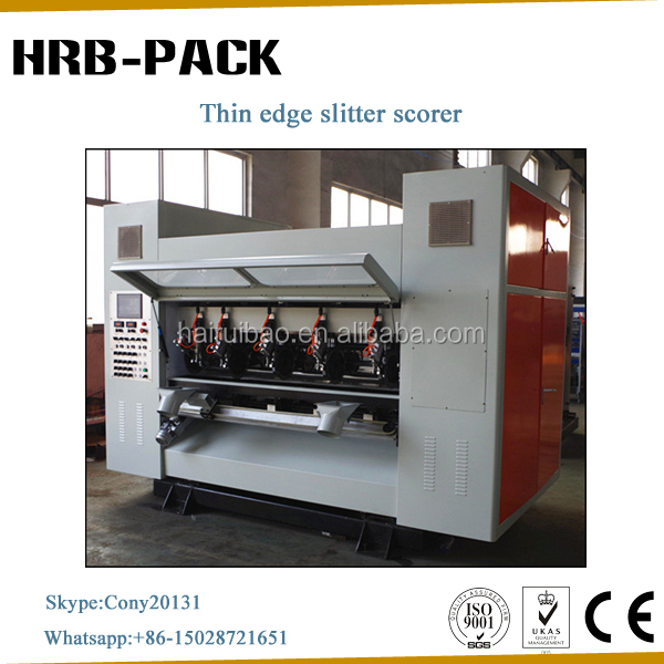 Corrugated Carton Thin Blade Slitter and Creasing Machinery/Cardboard Making Equipment