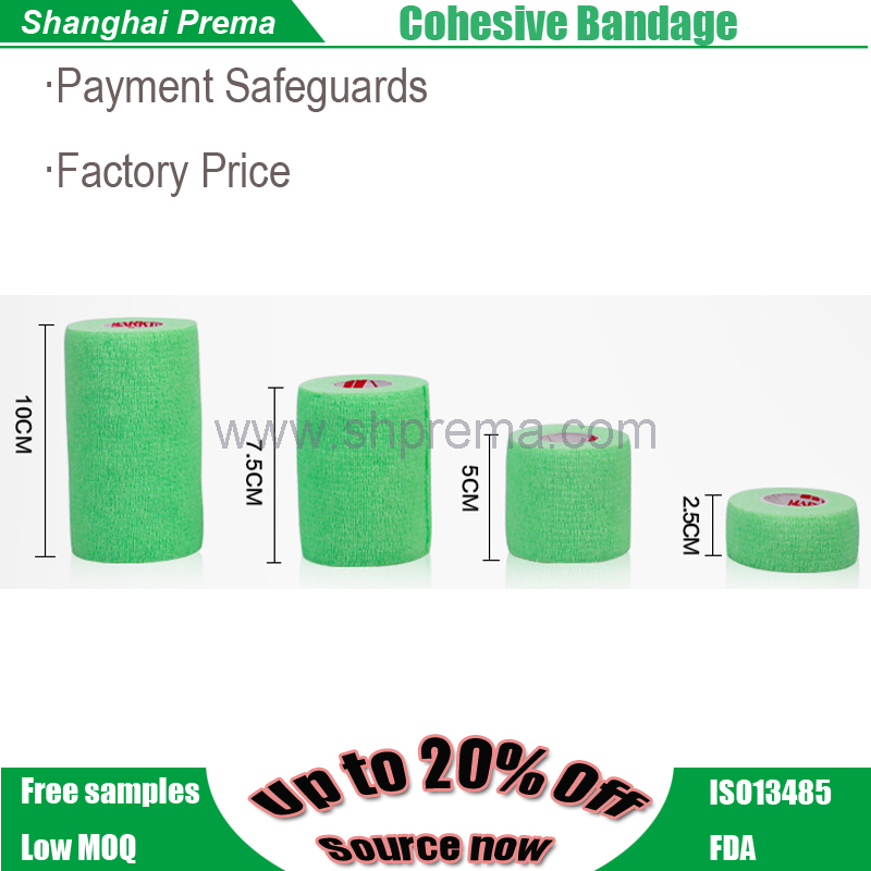 Own Factory Direct Supply Non-woven Elastic Cohesive Bandage customized tape adhesive tape film tape .