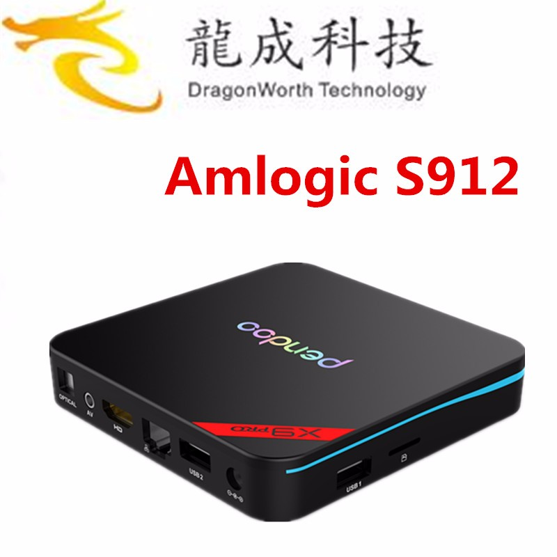 pendoo x9 pro Android 6.0 Android TV BOX s912 2GB 16GB AP6330 2.4GHZ/5.8GHZ wifi internet Mini PC streaming media player
