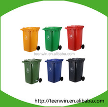 Outdoor 120L Plastic wheeled waste bin/ garbage bin/trash can