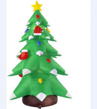 Inflatable silver tip christmas tree