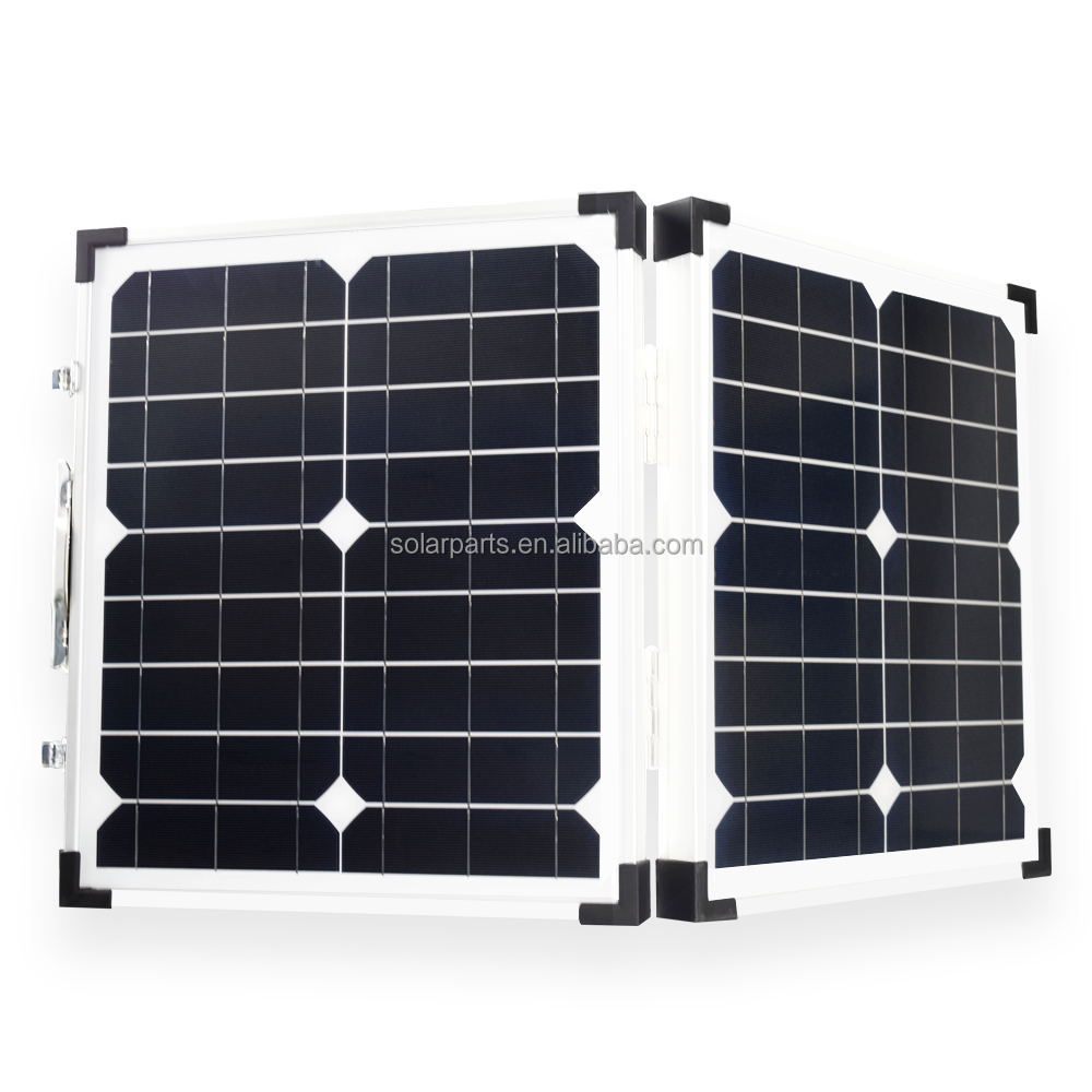 Portable 70W 12V 18V Monocrystalline Folding Solar Panel for Camping