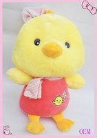 Cute custom soft stuffed plush bird keychain toy