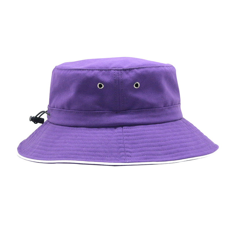Factory Custom Embroidered Purple Bucket Hat