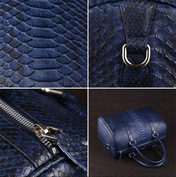 OEM Men's High End Real Python Snakeskin Leather Travel Duffle Bag for Clothes Storage_3