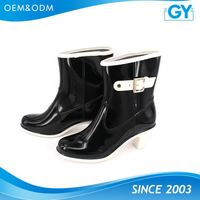 Factory best price all color available popular pvc transparent rain boots