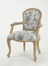 French /European style Square Back Solid OAK Flower Fabric Arm chair/Ding chair/Living Leisure chair(CH-859-Oak)