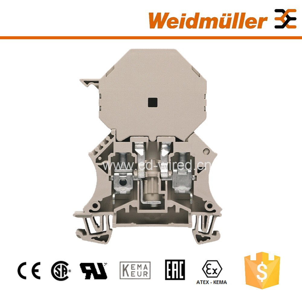 Fuse Screw Terminal Block Electrical Connectors For Weidmuller WSI 6/2/LD 30-70V LLC.