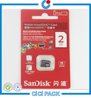 Custom clear blister plastic packaging for memory card