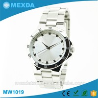 luxury alloy case steel band water resistant japan mov't Stainless Steel Watch