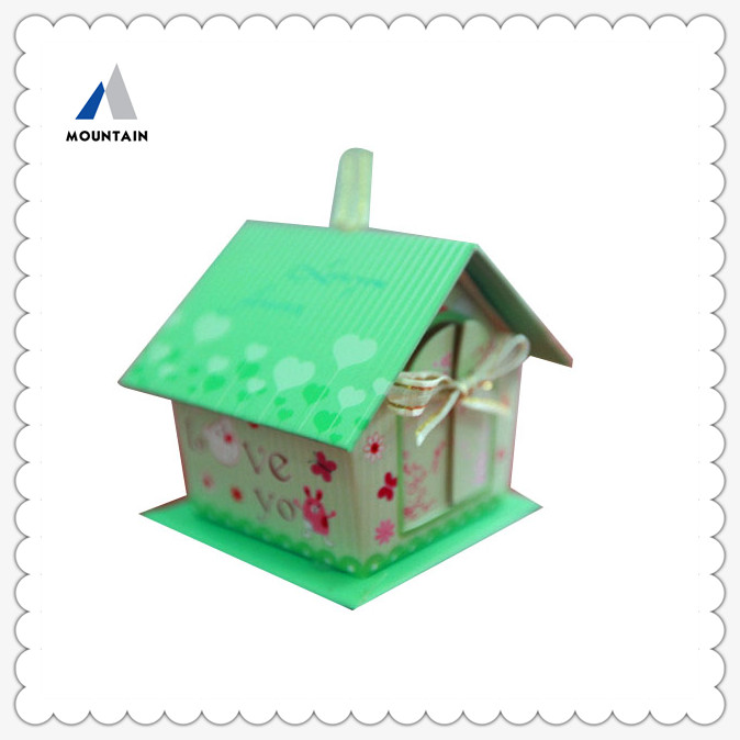 Mountain Custom Design House Shaped Cardboard Craft Paper Gift Box