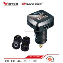 lcd monitor tpms with alarm system, tire pressure sensor external for car