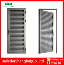 single swing opening louver door