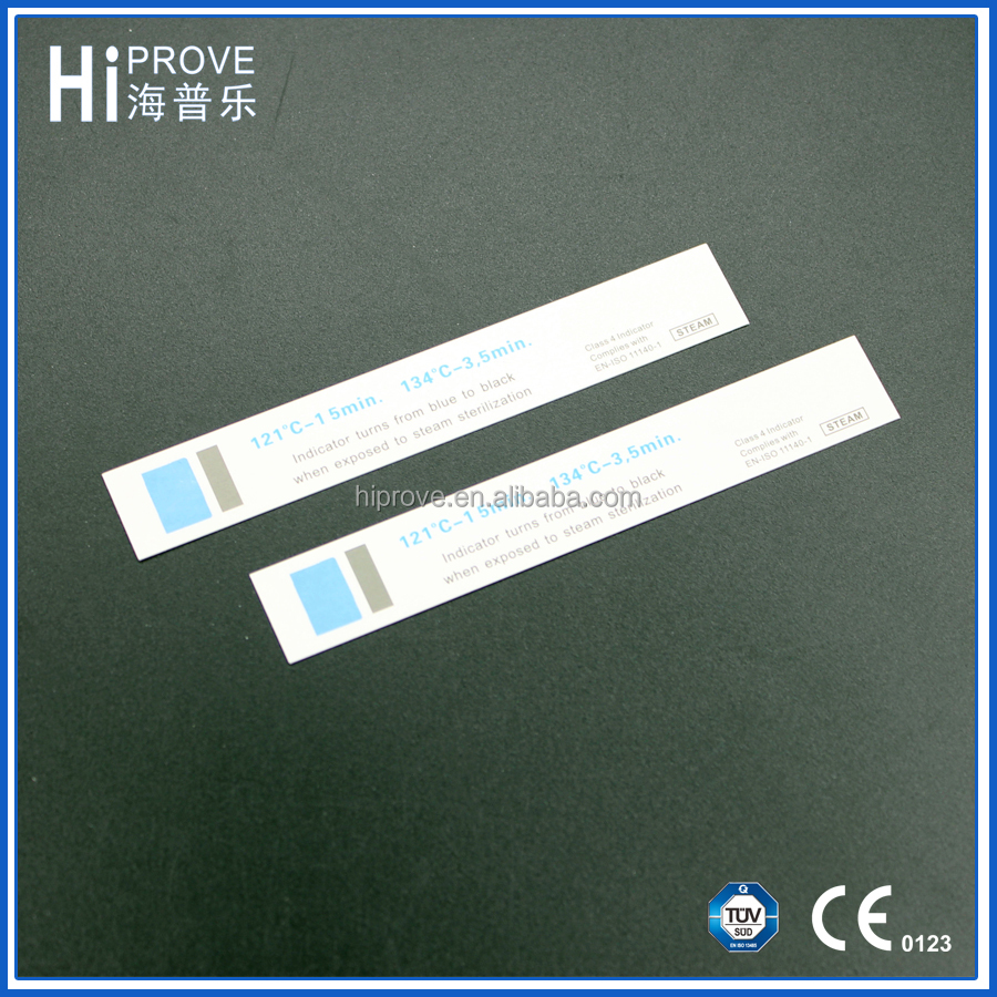 Steam Autoclave sterilization indicator card for medical or dental