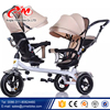 Europe double seat baby tricycle / 4 in 1 Steel frame baby twins tricycle /double seat children baby tricycle