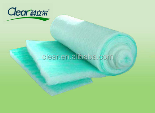 high quality green environmental filter cotton for spray booth with high separation efficiency for sale