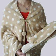 Printed Dots Coral Fleece Blanket Wraps for Adults