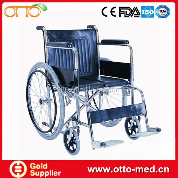 Steel outdoor manual wheelchairs