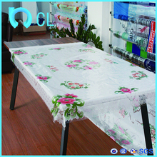 2017 wholesale manufacturer PVC printed independent wedding table cloth for wedding