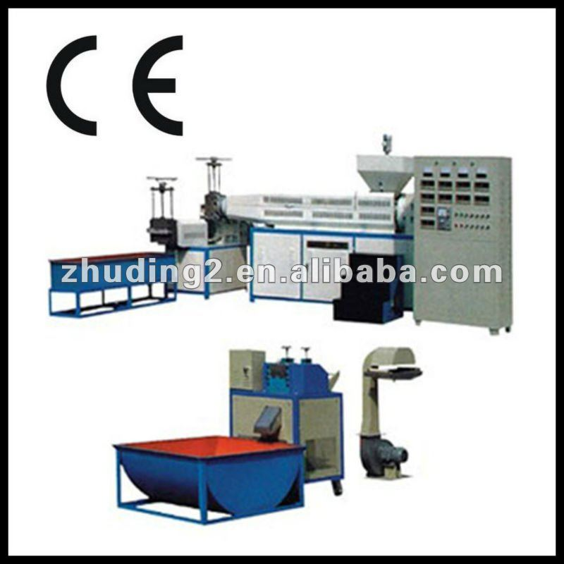 flake PET/PP/PE recycle plastic granules making machine