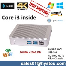 Nano itx case with intel CPU i3 4010U,Fanless mini itx case 2G RAM 256G SSD USB 3.0 300M WIFI