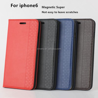 new products high quality pu mobile phone 4.7 inch holster flip stand cover for apple for iphone 6s case