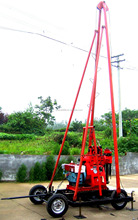 Tower and four wheel trailer Integrated drill rig(0-300m),geological exploration , drilling well ,diamond core drilling rig