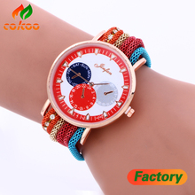 Fashion Luxury Diamond Bracelet Quartz Watches Women Casual Watch Fabric Round Ladies Classic Watch