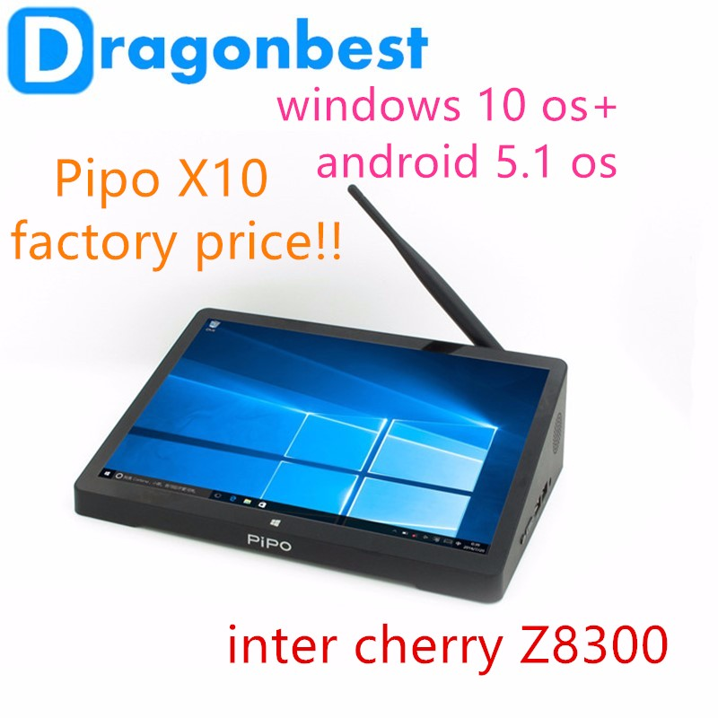 10.8 Inch 1920*1280 PIPO X10 Mini PC Win dows 10 Z8300 Quad Core 4G+64G 10000mAh Battery Better than X9S