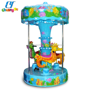 Indoor carousel coin operated kids used amusement park kiddie ride for sale