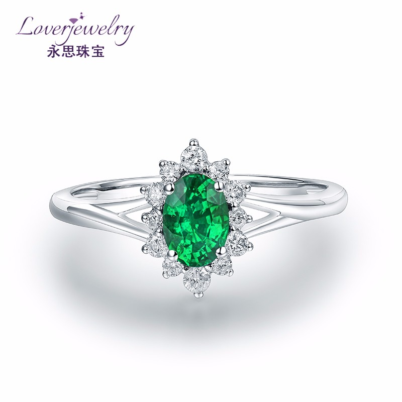 Trade assurance green emerald ring images