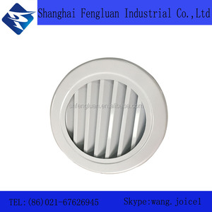 Aluminum ventilation air grille waterproof round supply air louver outlet for protect against rain water