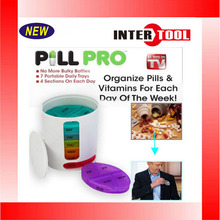 New Pill Pro PILLPRO AS SEEN ON TV Compact Organize Pill Vitamin Storage
