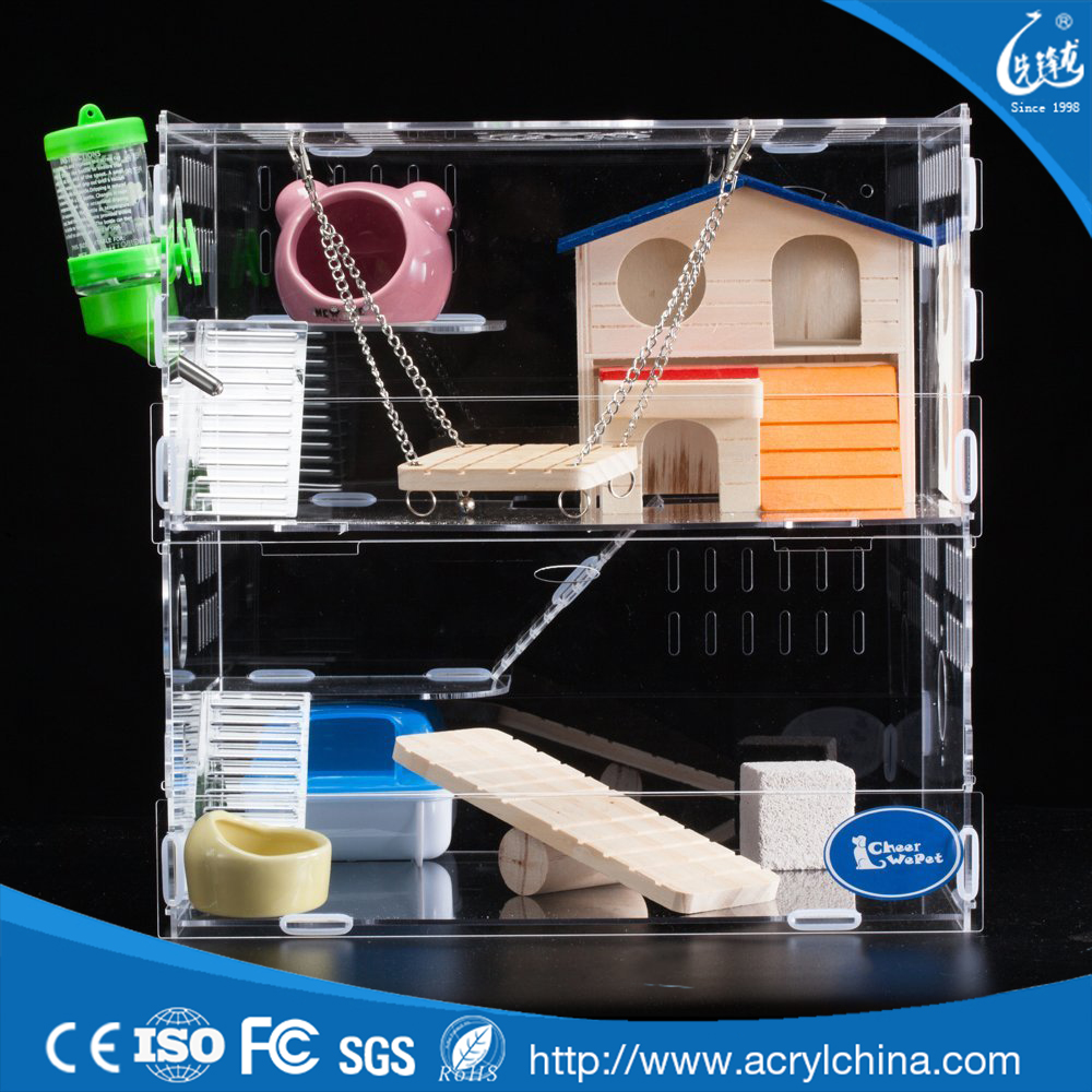 clear acrylic hamster cage rats kittens playhouse cat houses condos large cat cages