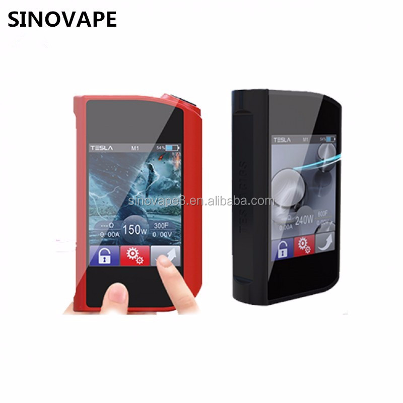 Wholesale price Tesla 150W TC box mod Teslacigs touch 150W VS Sigelei T150