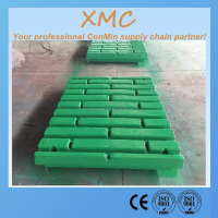 High manganese steel jaw plate,fixed jaw plate spare parts for crusher