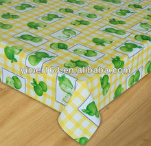 roll plastic tablecloth with nonwoven back / width 140cm roll table cover / roll anti slip plastic sheet table covers