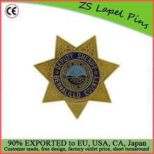 Custom quality award gift safety pin back Deputy Sheriff Badge Clip Art