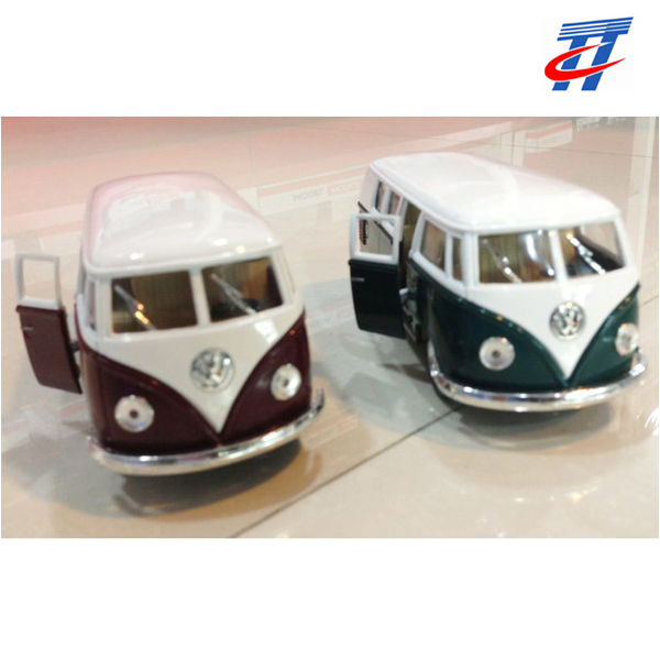 Die cast car promotional gift metal bus toy