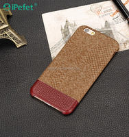 Leather back cover case mobile phone leather case for iPhone 6 case