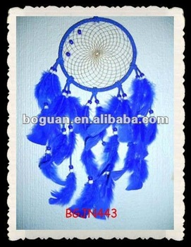 100% Handmade Royal Blue Native American Dream Catcher