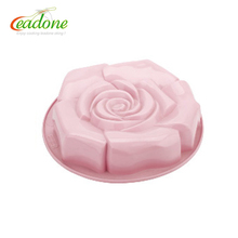 Rose flower shaped chocolate cupcake food grade custom silicone molds in cake tools cake decorating fondant silicone mould